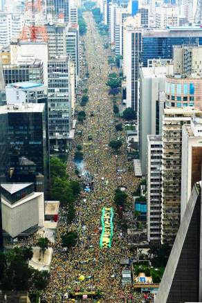 PROTESTO IMPEACHMENT DILMA/AEREA