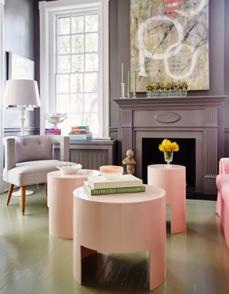 gray-and-pink-living-rooms-round-pink-lacquer-coffee-tables-gray-fireplace.jpg